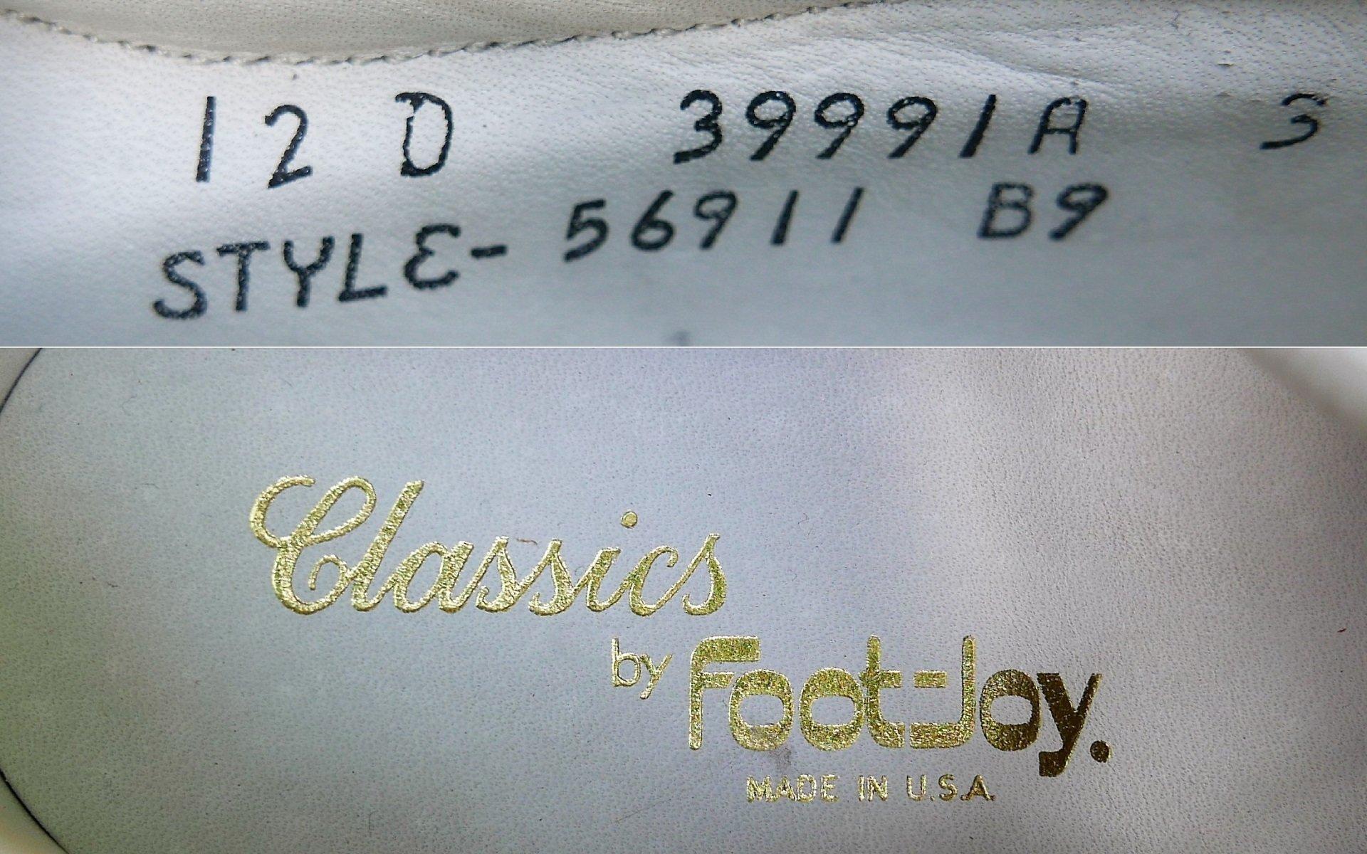 1989 FootJoy Classics Golf Shoe