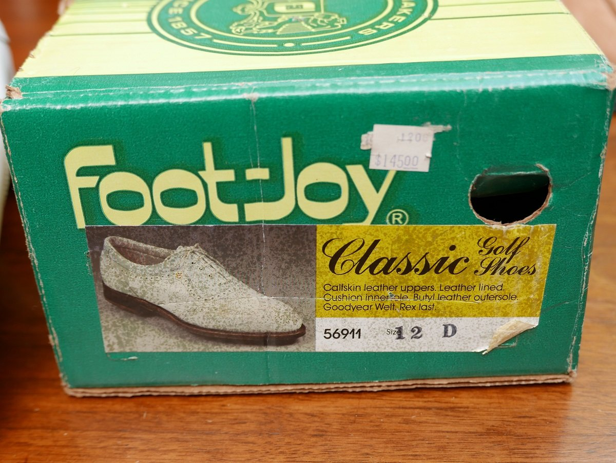 1980s FootJoy Golf Shoe box